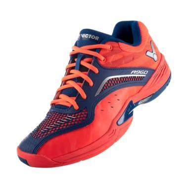 Victor Junior Sepatu Badminton Pria - Orange Blue [A 960 DF]