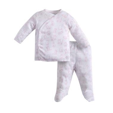I am Cotton Pajamas White Pink Kitty
