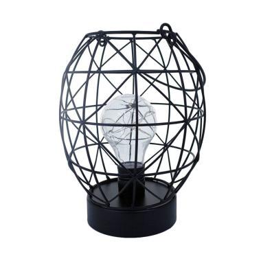 JYSK Decortive Lamp Black Iron With Handle Lampu Dekorasi
