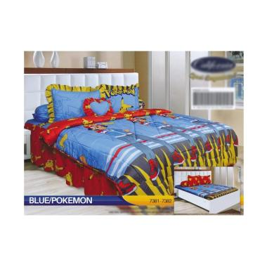 California Motif Blue Pokemon Set Sprei