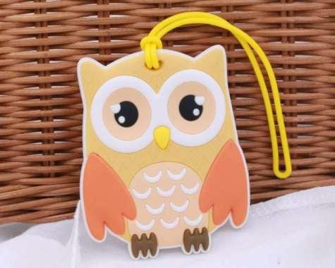harga FREE ONGKIR luggage tag lucu - gantungan koper - gantungan tas - owl Blibli.com