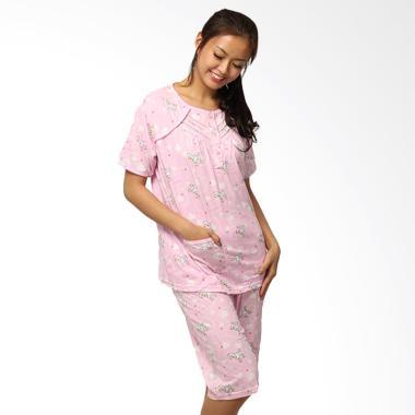 GRAZIEE BJ014 Pinky Doggy Setelan Baju Tidur Wanita