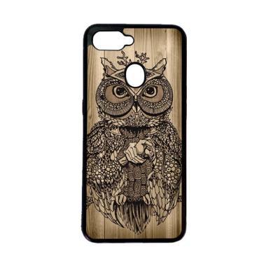 harga HEAVENCASE Motif Burung Kayu Owl Wood Softcase Casing for Oppo F9 or F9 Pro - Hitam Blibli.com