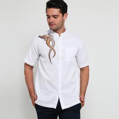 Batik Arjunaweda BR2 Baju Koko Pria - Putih [94203056]