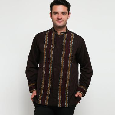 Batik Arjunaweda Raghav Baju Koko Pria - Cokelat [97006018]