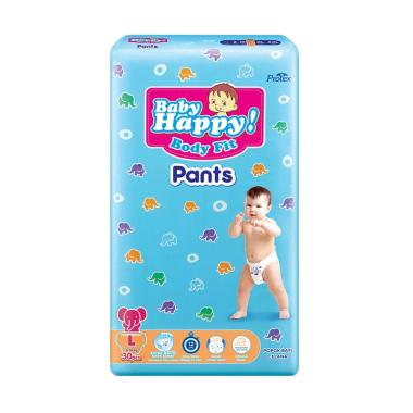 Baby Happy Diapers Pants Popok Bayi [Size L/ 30 pads]