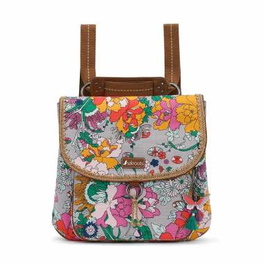 Sakroots Convertible Lilac Flower Power Backpack ... 039376c7da