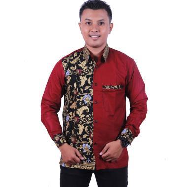 harga King Projo Kombinasi Prada Mutiara Kemeja Batik Pria Blibli.com