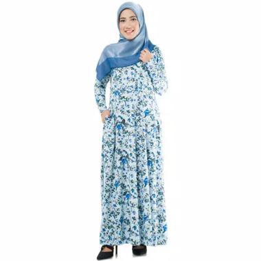 Gamis Tasik Fashion Adra Florita Motif Syar'i Dress Muslim Wanita