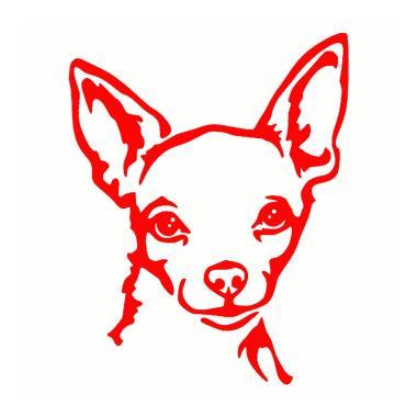 Chihuahua Rhinestone Decal Sticker