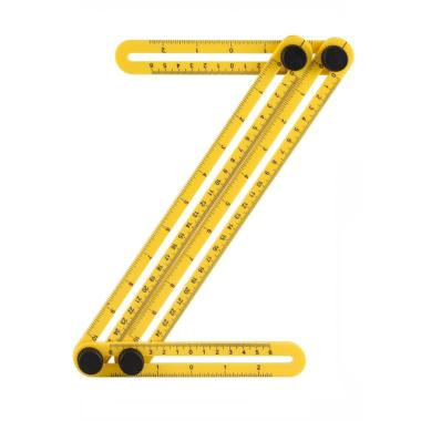 25cm Multifunction Stainless Steel Folding Angle Measuring Ruler for Marker Tool
