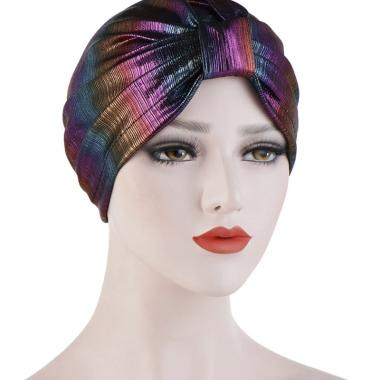 Transer/® Chemo Hats Holes Decor Muslim Cap Women Chemotherapy Hat Summer Scarves Turban Headwear Gift