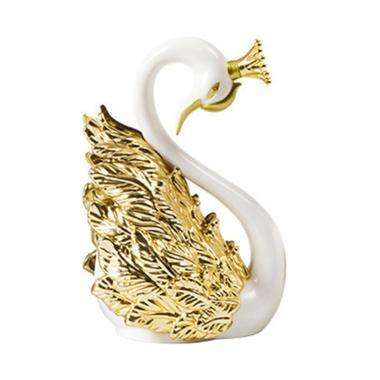 harga Crown Swan Shape Cake Topper Wedding Anniversary Party Sweet Baking Decoration 10cm Gold Blibli.com