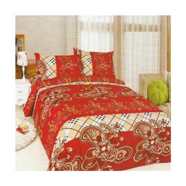 Bonita Red Batik Set Sprei [180 x 200 cm]
