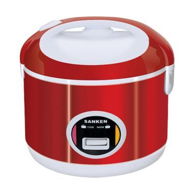 SANKEN Rice Cooker Stainless 1 Liter SJ-200 - Merah