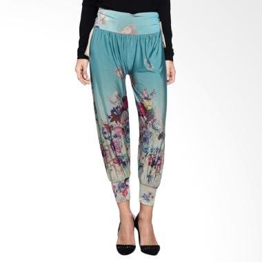 Loe'Style Jogger Long Pants Celana Wanita - Flowery