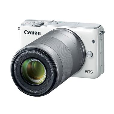 Canon EOS M10 EF-M 15-45mm and 55-200mm WiFi Kamera Mirrorless - White