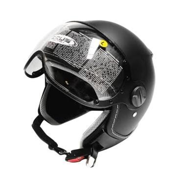 Zeus Retro ZS-210 Helm Half Face - Matt Black