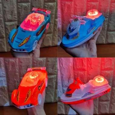 harga Mainan 1 Set Mobil dan Motor Boat Tarik Jalan ada Lampu Blibli.com