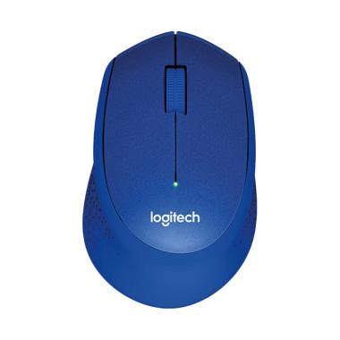 Logitech M331 Silent Plus Wireless Mouse - Biru