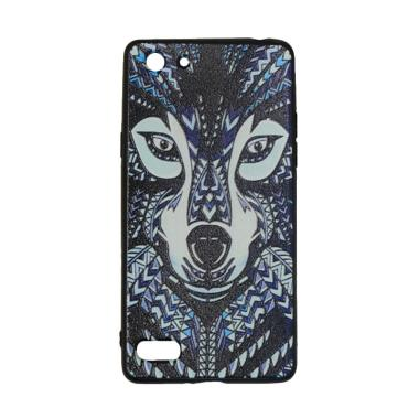 QCF Luxo Rimba Wolf Motif 2 Silicon ... ing for Oppo A33 or Neo 7