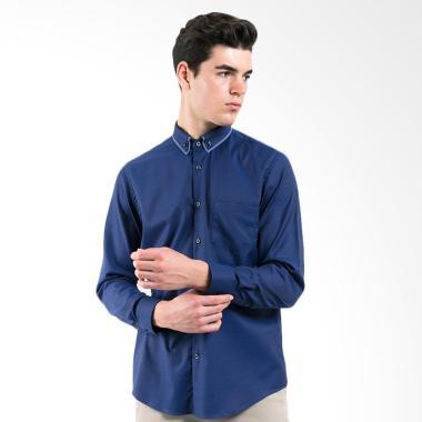 MANLY Gurvich Slim Fit Combination Shirt Pria