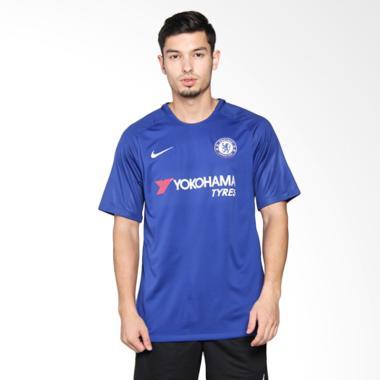 best sneakers f6dc3 6e4fb Nike Men Chelsea FC Breathe Stadium Jersey Home Baju Olahraga Pria - Blue  [905513-496]