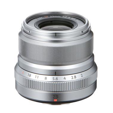 Fujifilm Lensa XF 23mm F/2 R WR Lensa Kamera - Silver