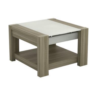 JYSK Manhattan Oak Fjord End Table Meja [60 x 60 x 44 cm]