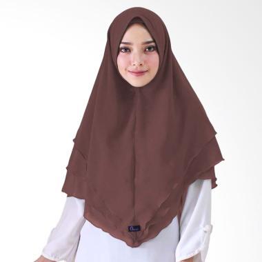 Milyarda Hijab Syari Khimar Alndra Hijab Instan - Coklat