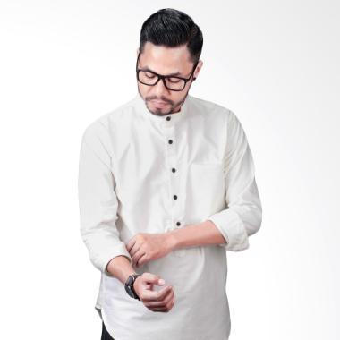 Elevant BW Premium Quality Baju Koko Pria - White