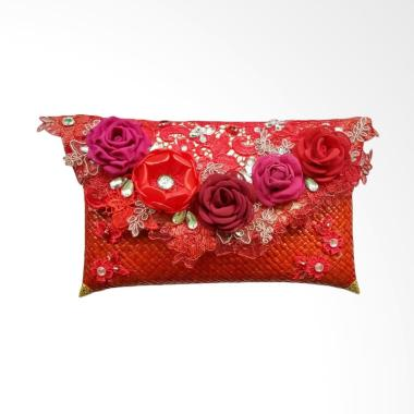 MILENAHAFIZAH MLN-003 Beauty Clucth Pandan Dompet Clutches - Red