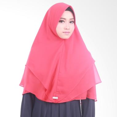 Atteena Hijab Khimar Radya Pet Jilbab Instant - Light Red