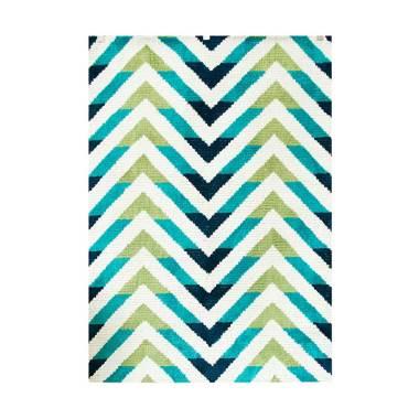 Vision JZCR-80 Karpet - White Blue [110 x 160 cm]
