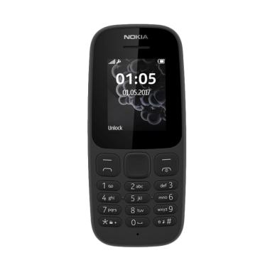 Nokia 105 Dual Sim 2017 Handphone - Black