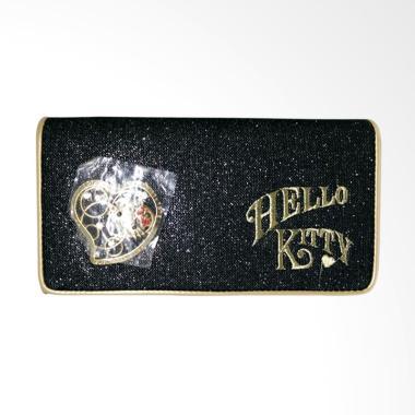 Hello Kitty HK Glitter Dompet Panjang Wanita - Coklat Susu
