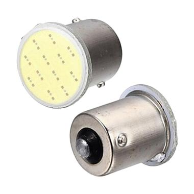 JMS BA15S COB 12 SMD S25 1156 Lampu ... au Motor - Yellow [2 Pcs]