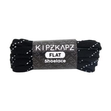 KipzKapz FS54 Flat Shoelace Tali Se ...  Black White [7mm/115 cm]