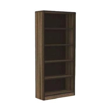 Ivaro 4526 Expo Display Cabinet Penyimpanan Serbaguna - Brown Black