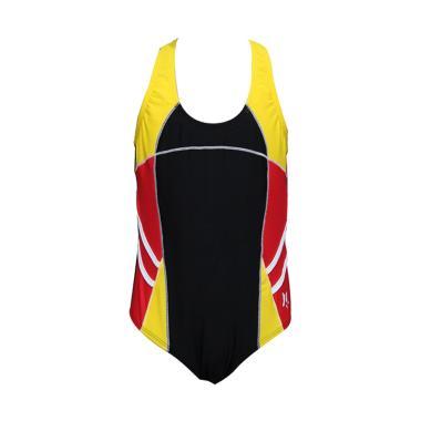 Lasona Pakaian Renang Anak Perempuan - Black Red SW-H3009-L4
