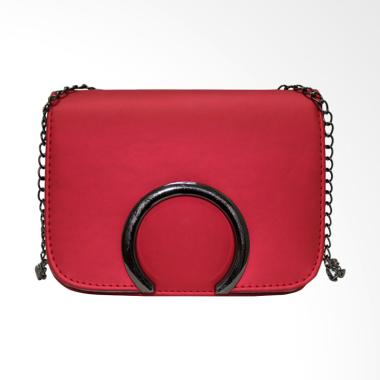 Shine Accesories TU1458 Tas Kulit Jelly Gesper RF Sling Bag - Red