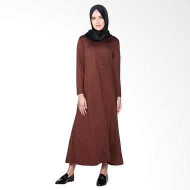 Elzatta Gamia Adela Busui Gamis Muslim Wanita - Dark Brown 706