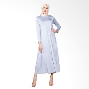 Elzatta Gamia Adela Busui Gamis Muslim Wanita - Light Grey 804
