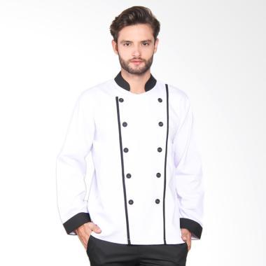 Chef Series Executive Tangan Panjang Baju Koki - Putih [Size L]