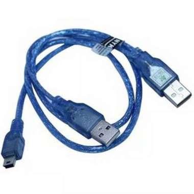 harga KABEL HDD MINI USB 5PIN-USB CABANG TRANSPARAN Blibli.com