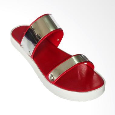 Anneliese Hara Sandal Flat Wanita - Red