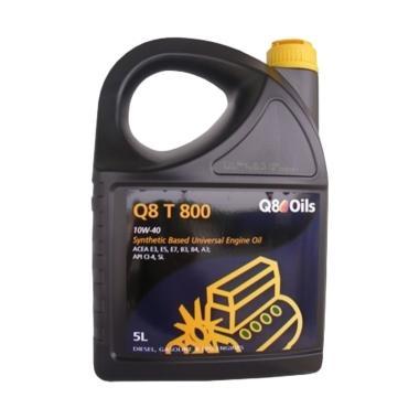 Q8 T800 10W 40 Pelumas Mobil 5 Liter