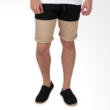 Elfs Shop Short Jogger Pants Chino  ... Pendek Pria - Black Khaki