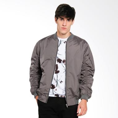 Papercut Men Dixon Bomber Jacket Pria - Grey