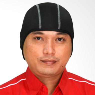 Roduta Inner Cap Pelindung Kepala - Black List Grey